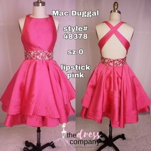 Mac Duggal pink homecoming dress